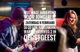 Zaterdag 9 Februari 2019 – Muziekavond voor en door jongeren