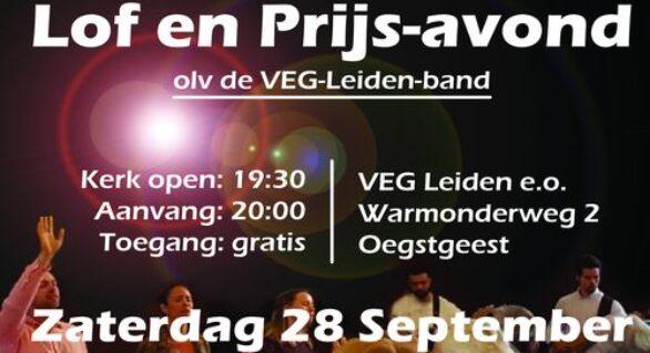 Zaterdag 28 September 2019: Lof en Prijs-Praiseavond